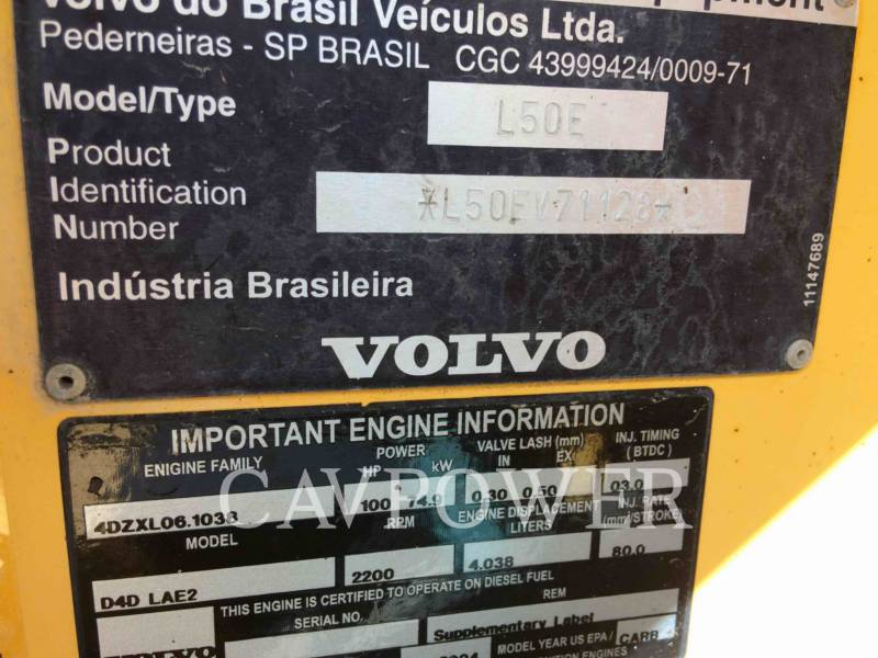 VOLVO CONSTRUCTION EQUIPMENT WHEEL LOADERS/INTEGRATED TOOLCARRIERS L50E equipment  photo 5
