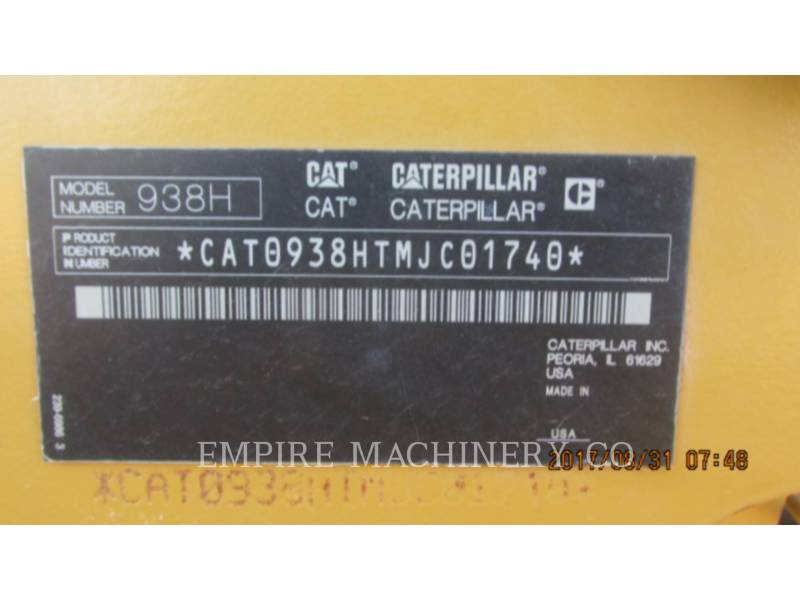 CATERPILLAR CARGADORES DE RUEDAS 938H CU equipment  photo 13