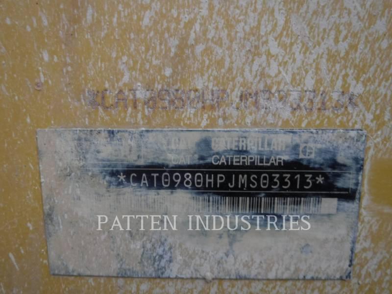 CATERPILLAR CHARGEURS SUR PNEUS/CHARGEURS INDUSTRIELS 980H equipment  photo 6