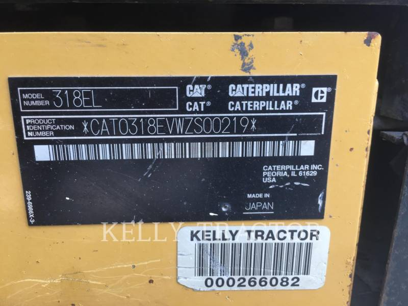 CATERPILLAR KETTEN-HYDRAULIKBAGGER 318EL equipment  photo 19