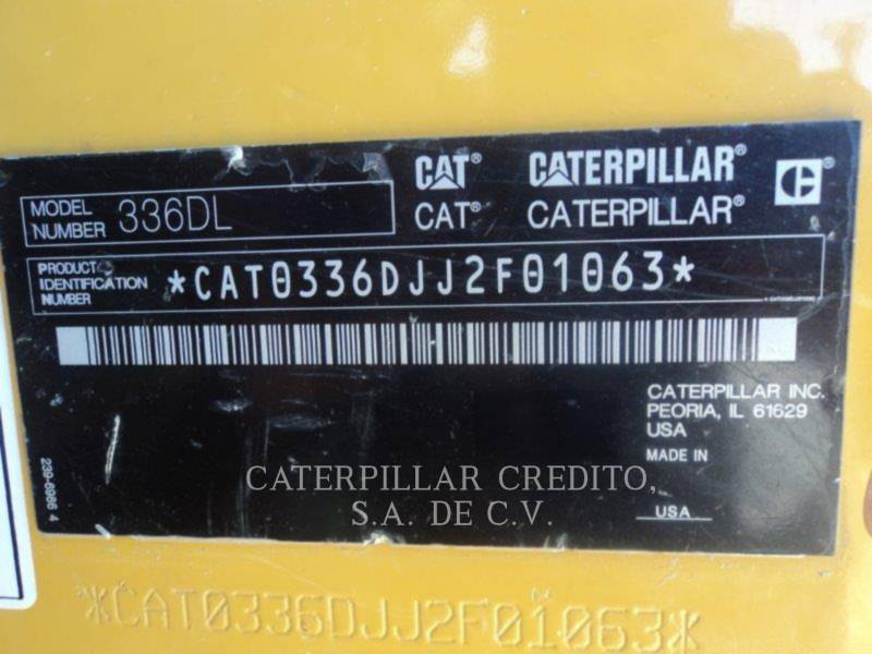 CATERPILLAR PELLES SUR CHAINES 336DL equipment  photo 6