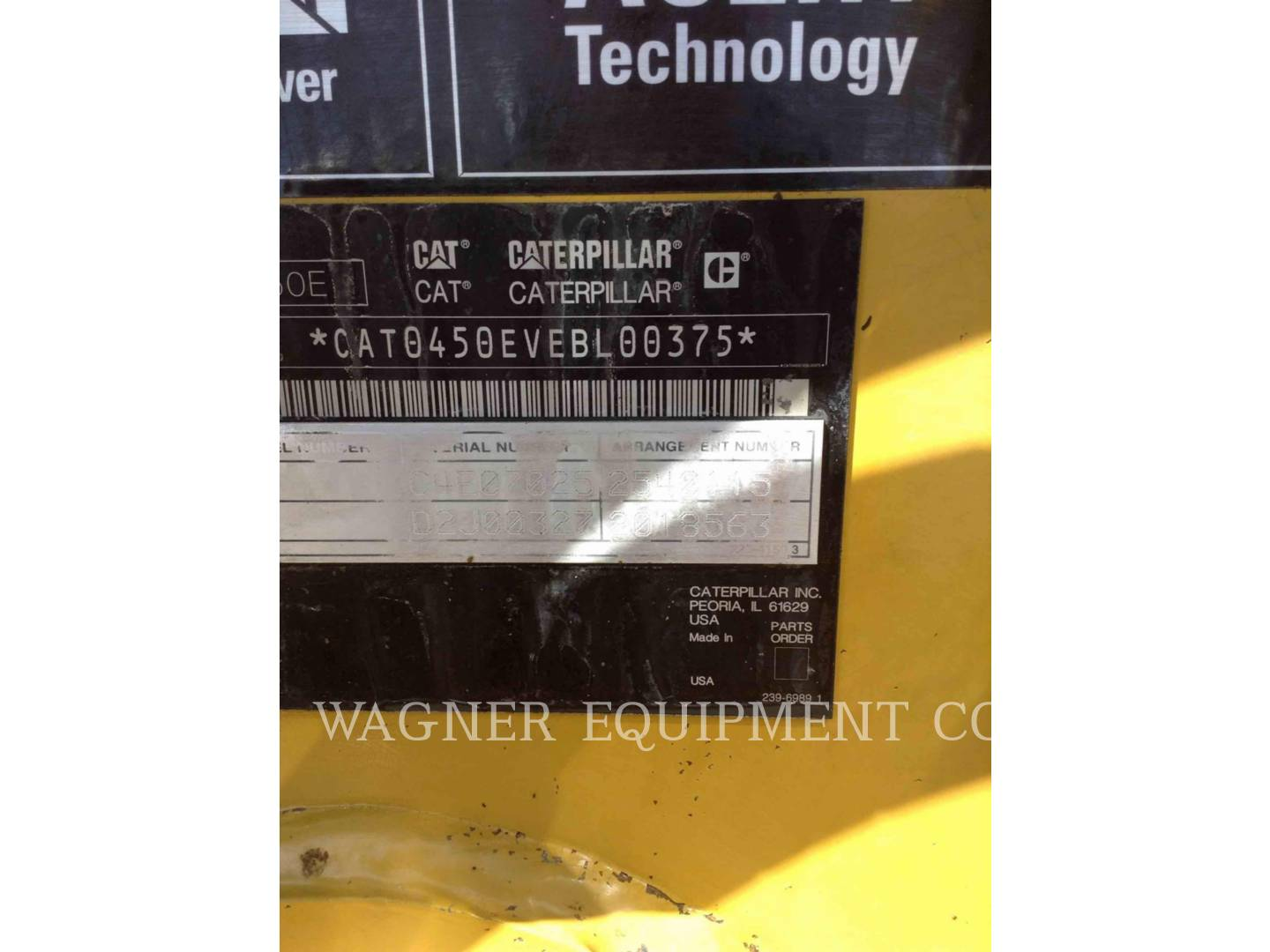 Detail photo of 2009 Caterpillar 450E from Construction Equipment Guide