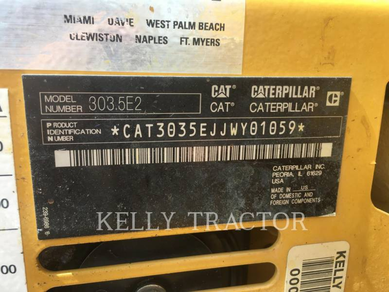 CATERPILLAR PELLES SUR CHAINES 303.5E2CR equipment  photo 15