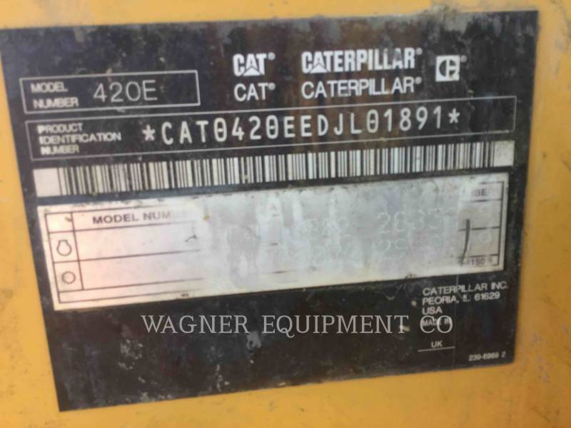 CATERPILLAR BACKHOE LOADERS 420E 4WD equipment  photo 11