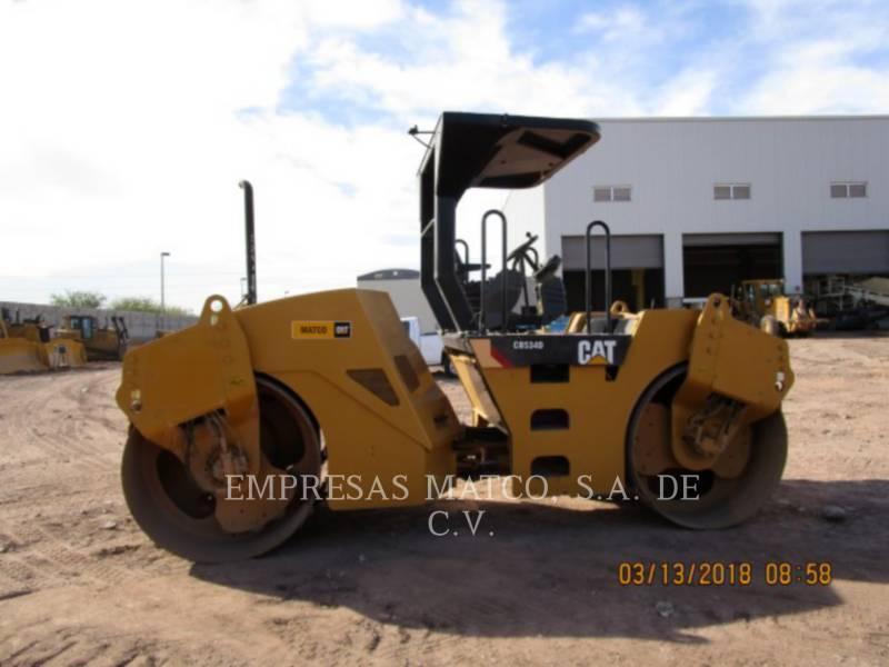 CATERPILLAR TAMBOR DOBLE VIBRATORIO ASFALTO CB-534D equipment  photo 1