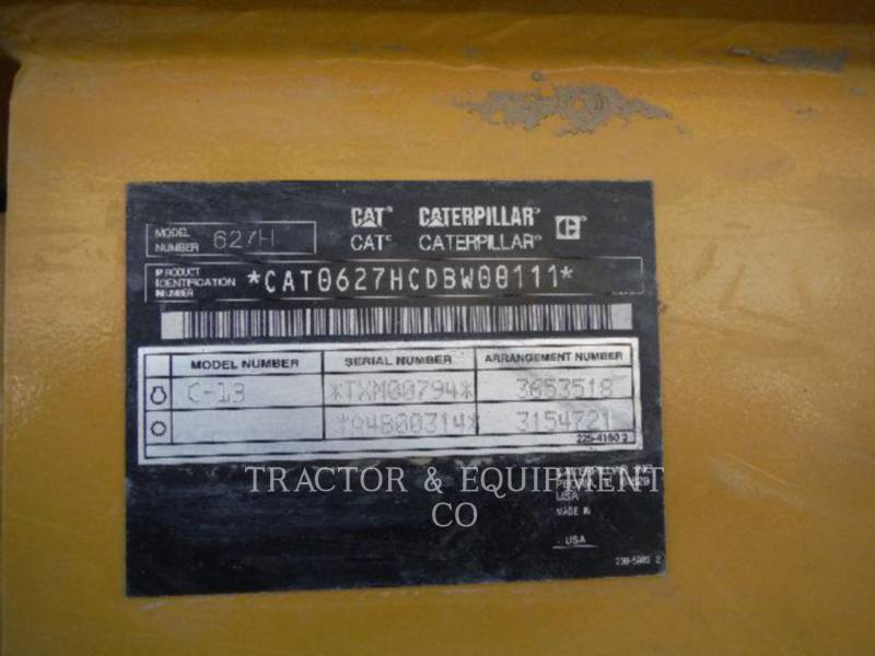 CATERPILLAR DECAPEUSES AUTOMOTRICES 627H equipment  photo 5