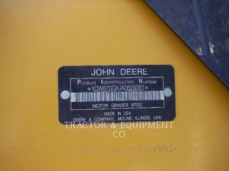 JOHN DEERE MOTOR GRADERS 870G equipment  photo 2