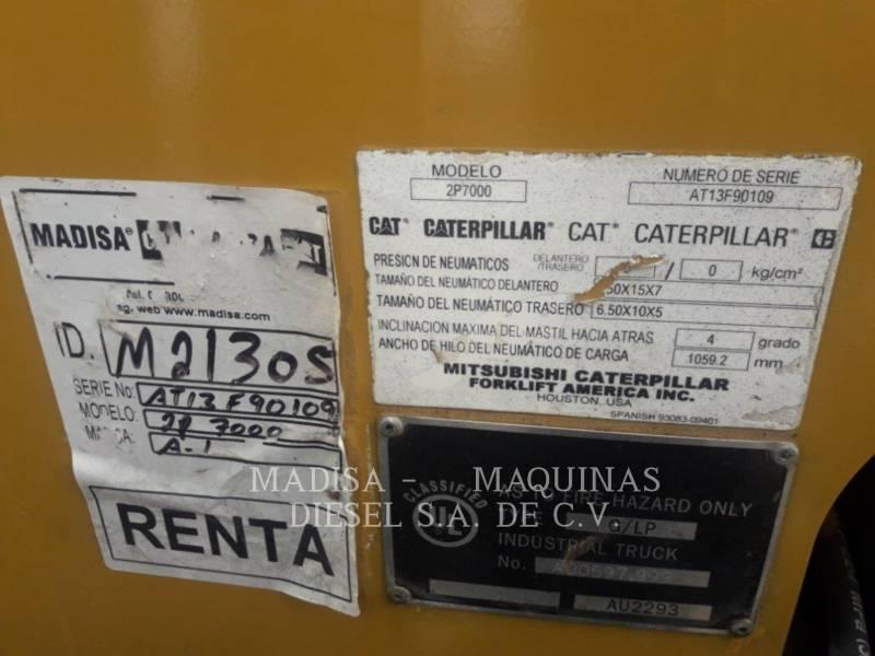 CATERPILLAR LIFT TRUCKS PODNOŚNIKI WIDŁOWE 2P7000 equipment  photo 7