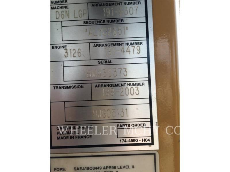 CATERPILLAR TRACK TYPE TRACTORS D6N LGP AR equipment  photo 5