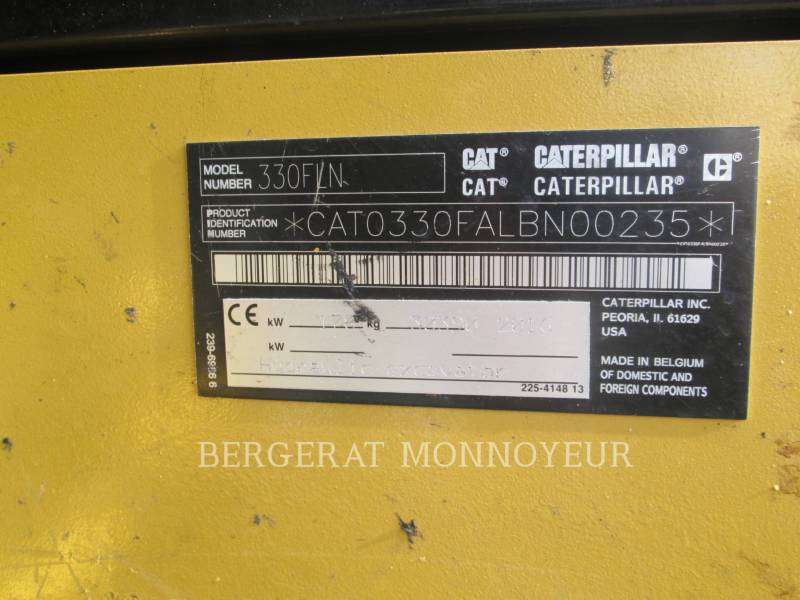 CATERPILLAR EXCAVADORAS DE CADENAS 330F equipment  photo 11