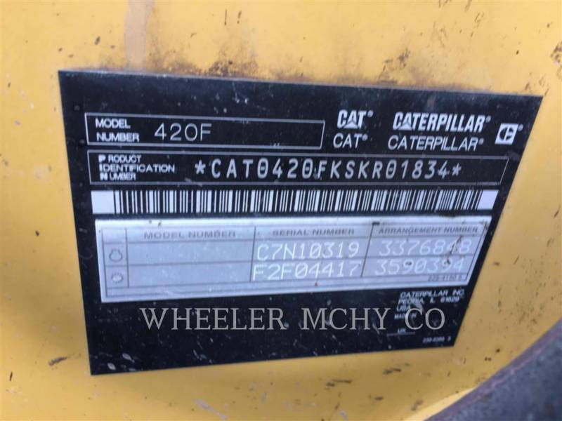 CATERPILLAR BACKHOE LOADERS 420F E equipment  photo 12