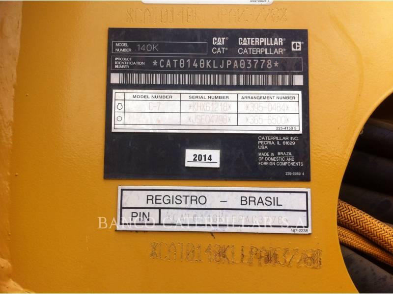 CATERPILLAR MOTONIVELADORAS 140K equipment  photo 23