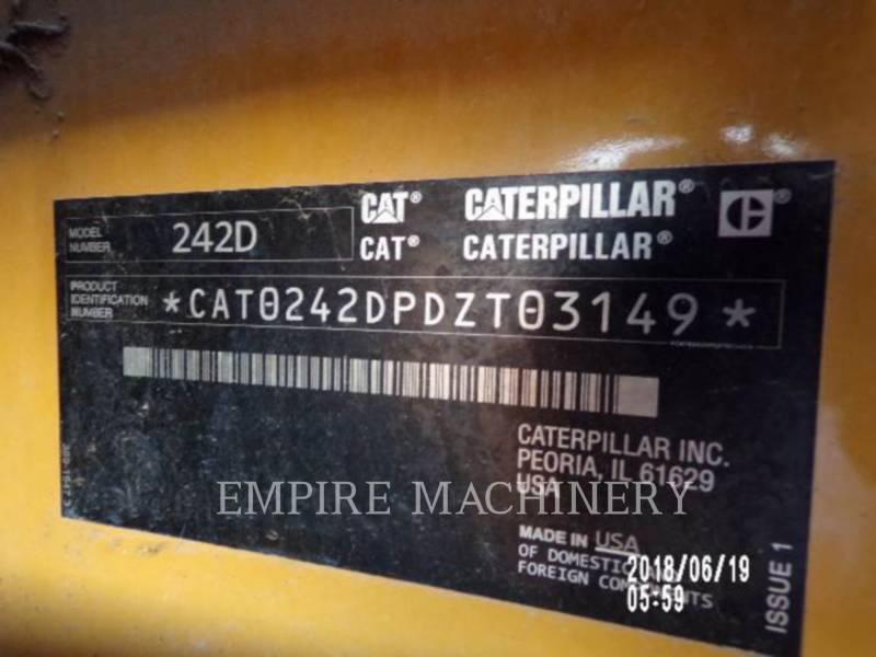 CATERPILLAR PALE COMPATTE SKID STEER 242D equipment  photo 11
