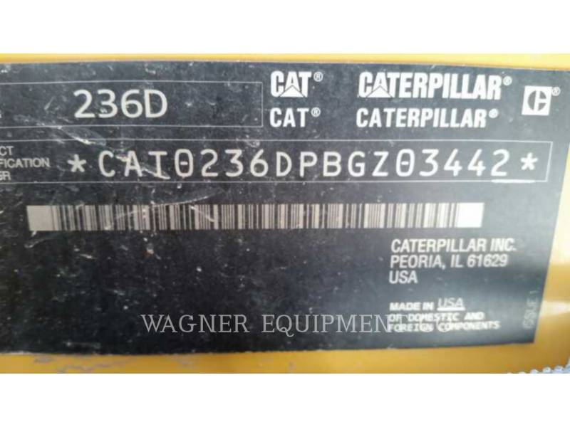 CATERPILLAR KOMPAKTLADER 236D HF equipment  photo 5
