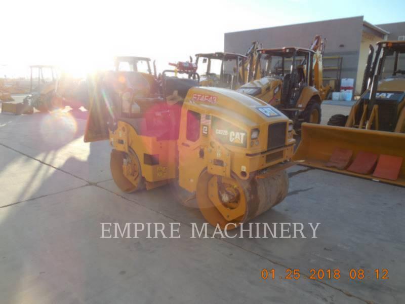 CATERPILLAR COMPATTATORE PER ASFALTO A DOPPIO TAMBURO VIBRANTE CB22B equipment  photo 1