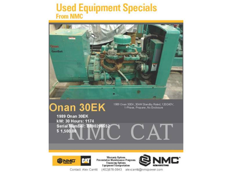 ONAN STATIONARY GENERATOR SETS 30.0EK_ON equipment  photo 6