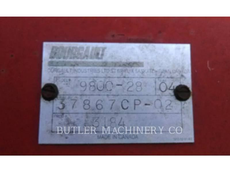 BOURGAULT INDUSTRIES AG - BESTELLUNGSGERÄTE 9800-28 equipment  photo 5