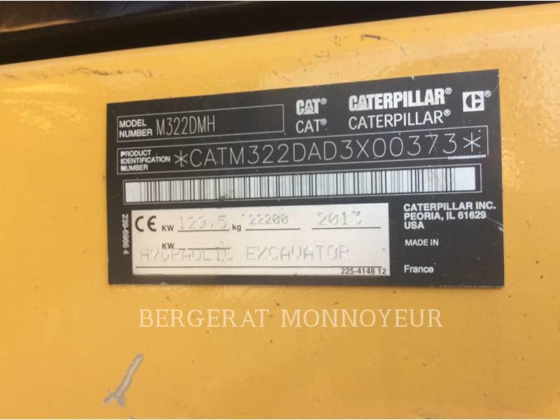 CATERPILLAR PELLES SUR PNEUS M322D MH equipment  photo 9