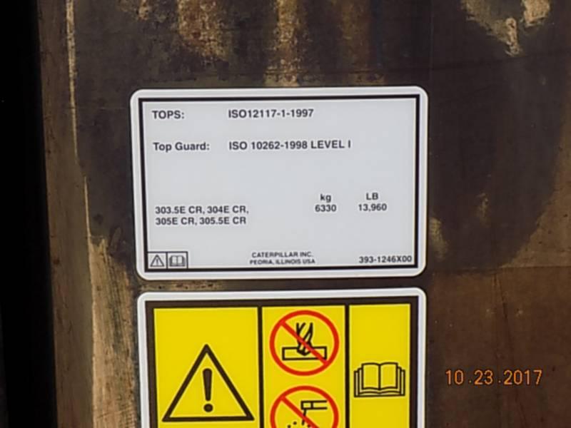 CATERPILLAR PELLES SUR CHAINES 305.5ECR equipment  photo 17