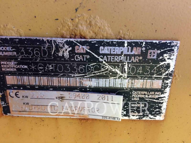 CATERPILLAR EXCAVADORAS DE CADENAS 336DL equipment  photo 5