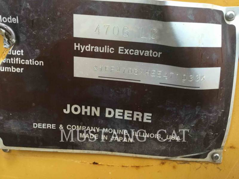 JOHN DEERE KETTEN-HYDRAULIKBAGGER 470G equipment  photo 5