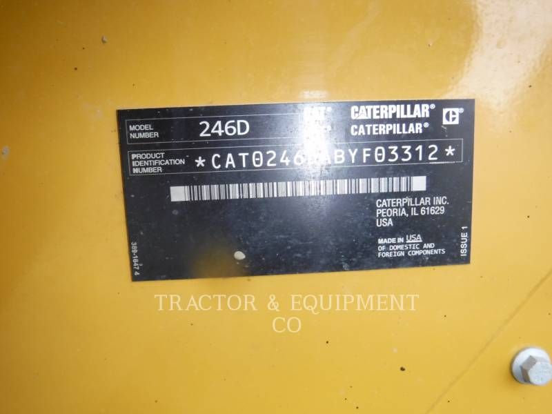 CATERPILLAR CHARGEURS COMPACTS RIGIDES 246D H2CB equipment  photo 2