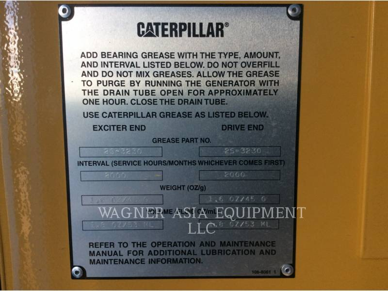 GENSET STATIONARY GENERATOR SETS CAT3516B equipment  photo 18