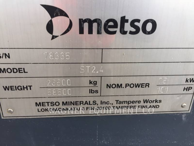 METSO CRUSHERS ST2.4 equipment  photo 8