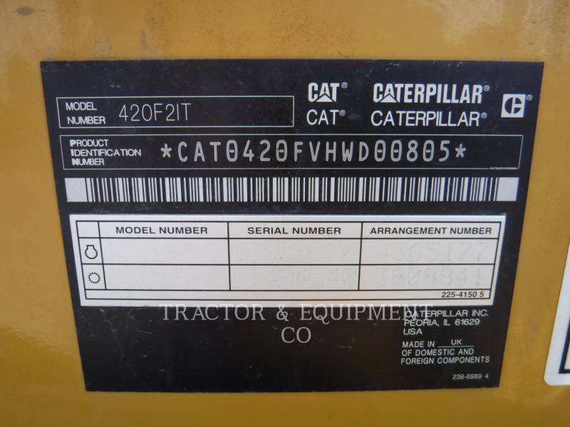 CATERPILLAR BACKHOE LOADERS 420F24ETCB equipment  photo 2