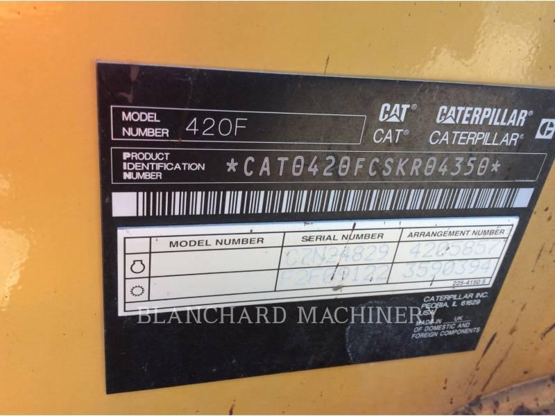 CATERPILLAR BACKHOE LOADERS 420F equipment  photo 21