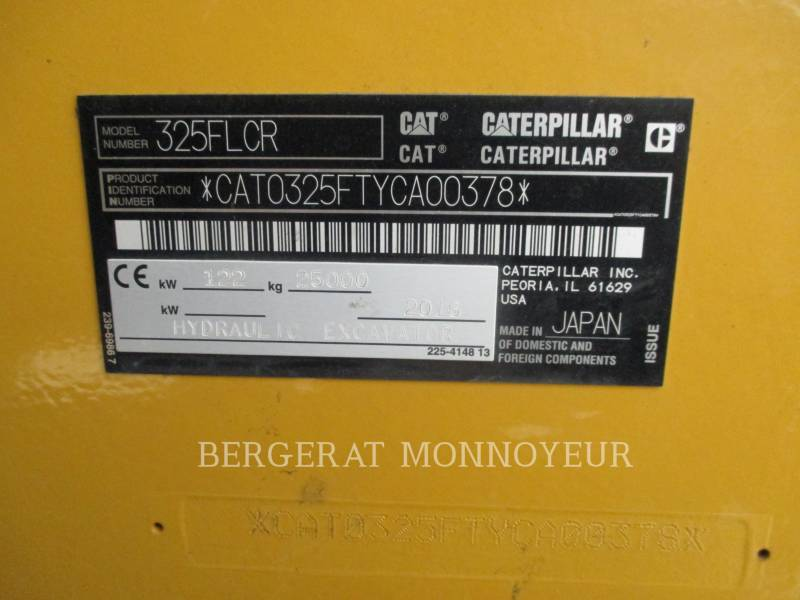 CATERPILLAR EXCAVADORAS DE CADENAS 325F CR equipment  photo 19