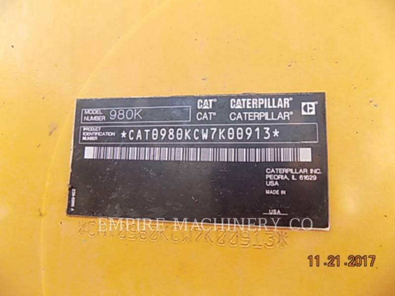 CATERPILLAR WHEEL LOADERS/INTEGRATED TOOLCARRIERS 980K equipment  photo 15