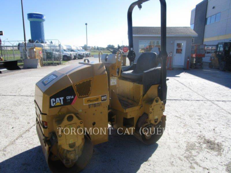 CATERPILLAR TANDEMOWY WALEC WIBRACYJNY DO ASFALTU (STAL-STAL) CB14 equipment  photo 1