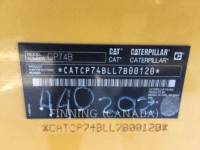 CATERPILLAR COMPACTORS CP74B equipment  photo 4