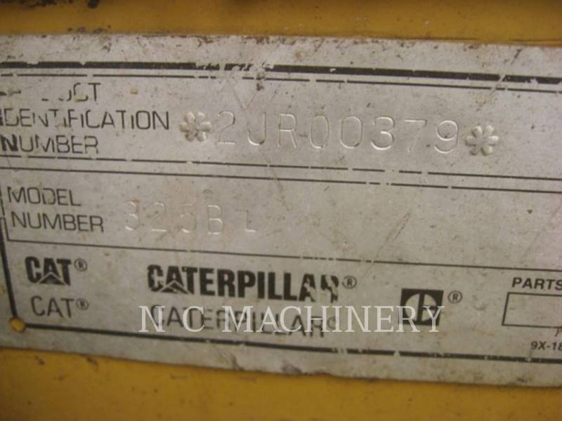 CATERPILLAR トラック油圧ショベル 325B L equipment  photo 5