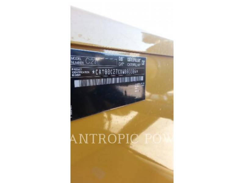 CATERPILLAR STATIONARY GENERATOR SETS C27 equipment  photo 6