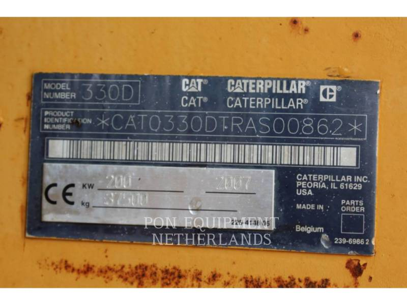 CATERPILLAR KETTEN-HYDRAULIKBAGGER 330DL equipment  photo 6
