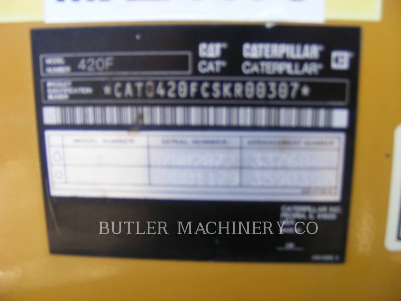CATERPILLAR BACKHOE LOADERS 420 F equipment  photo 7