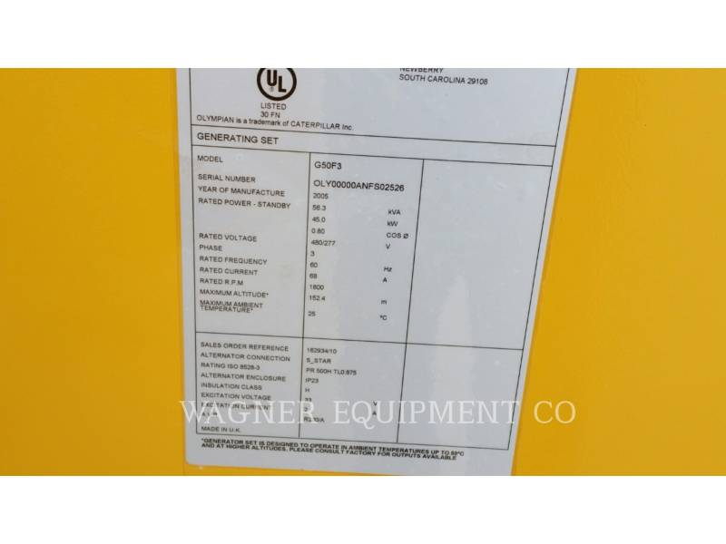 CATERPILLAR FIXE - GAZ NATUREL G50F3 equipment  photo 4