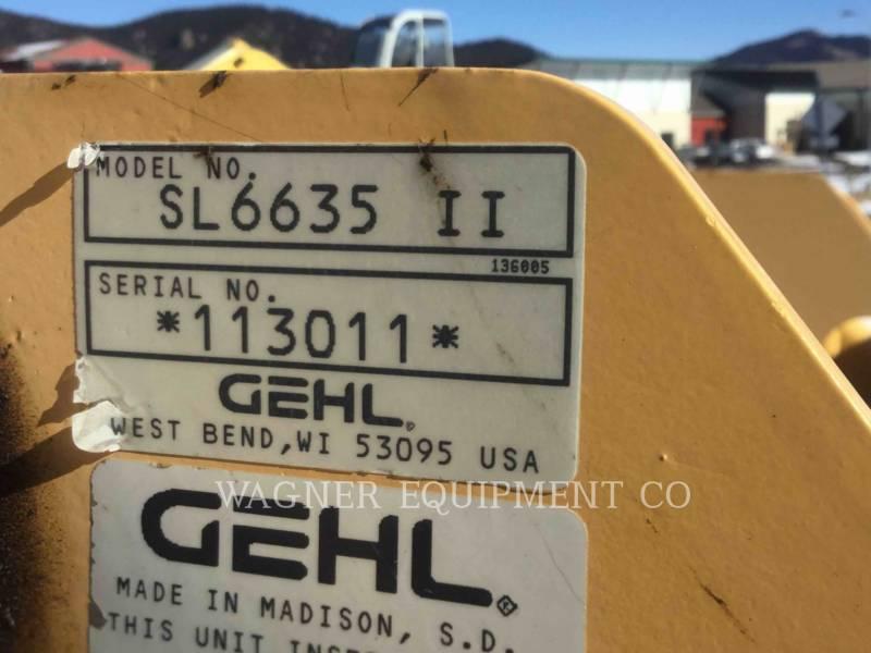 GEHL COMPANY SKID STEER LOADERS SL6635 DXL equipment  photo 8