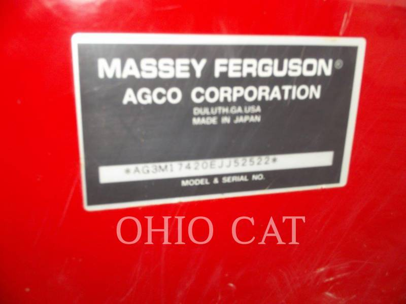 AGCO-MASSEY FERGUSON TRACTEURS AGRICOLES MF1742L equipment  photo 15