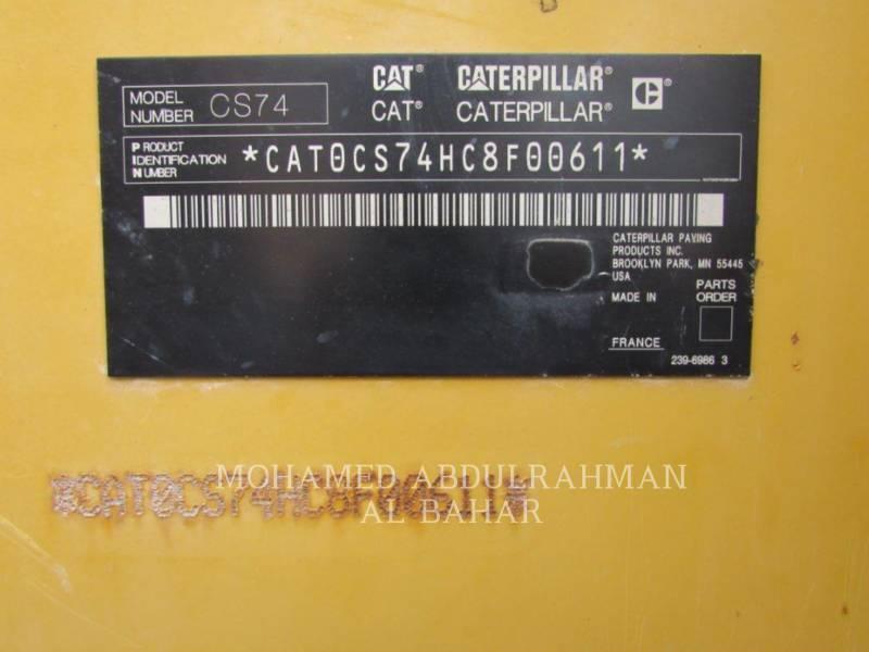 CATERPILLAR COMPACTADORES DE SUELOS CS 74 equipment  photo 12