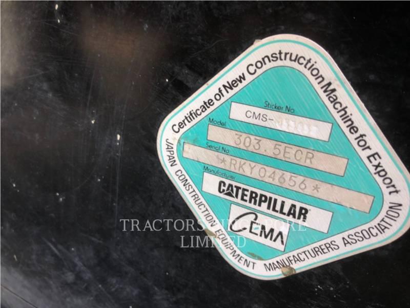 CATERPILLAR KETTEN-HYDRAULIKBAGGER 303.5ECR equipment  photo 15