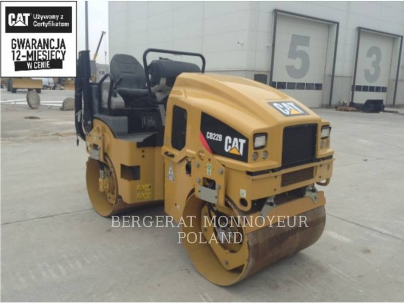 CATERPILLAR VIBRATORY DOUBLE DRUM ASPHALT CB22BLRC equipment  photo 1