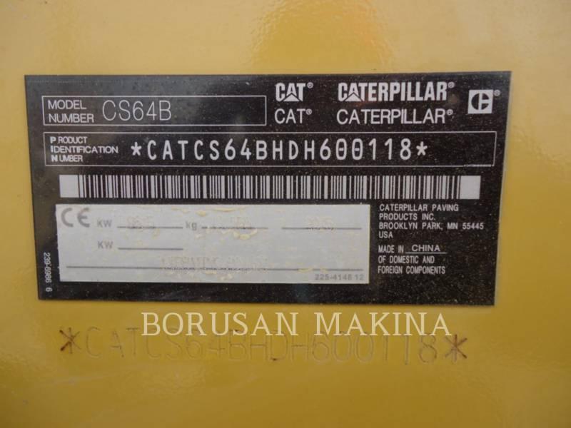 CATERPILLAR EINZELVIBRATIONSWALZE, GLATTBANDAGE CS64B equipment  photo 4