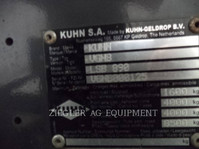 KUHN MATERIELS AGRICOLES POUR LE FOIN LSB890 equipment  photo 22