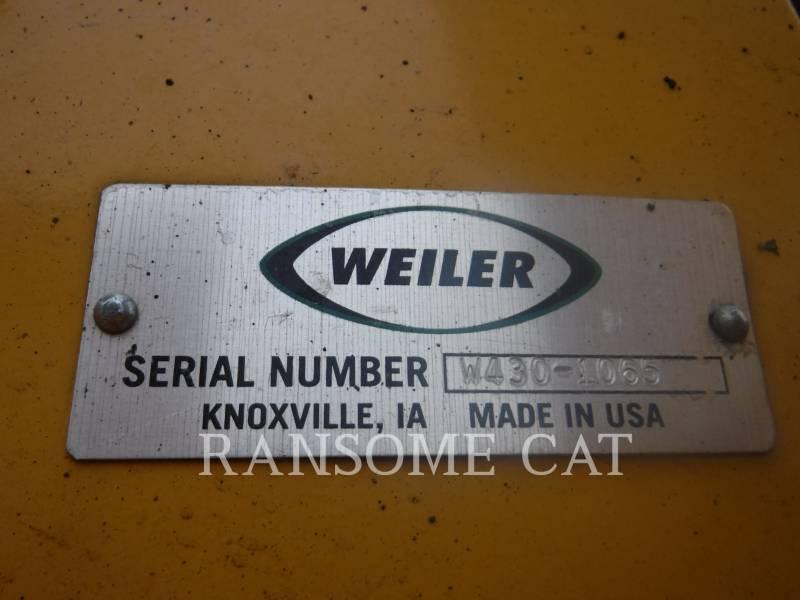 WEILER ROAD WIDENERS W430 equipment  photo 5