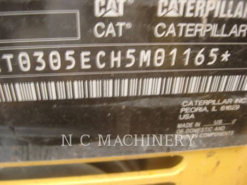 CATERPILLAR KOPARKI GĄSIENICOWE 305E2 CRCB equipment  photo 5