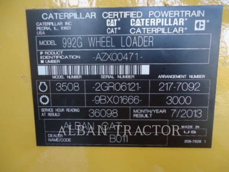 CATERPILLAR CARGADORES DE RUEDAS 992G equipment  photo 8