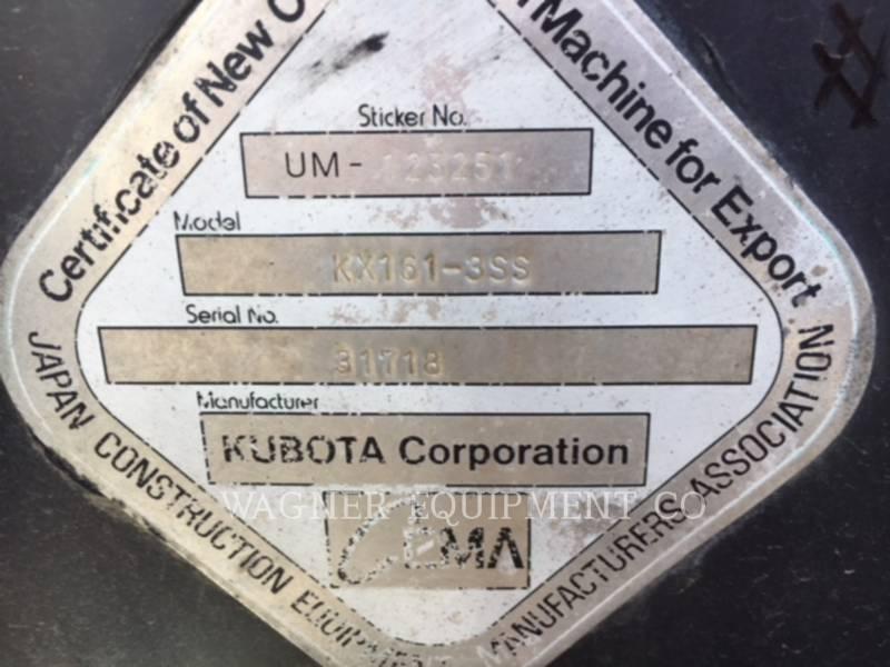 KUBOTA TRACTOR CORPORATION TRACK EXCAVATORS KX161-3SS equipment  photo 11